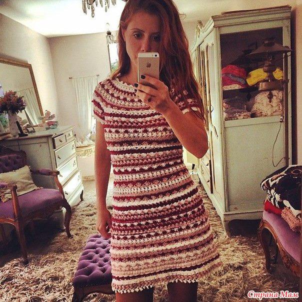 Платье от ванессы монторо вяжем вместе