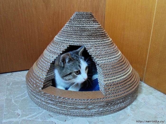Как сделать правильно домик для кошки