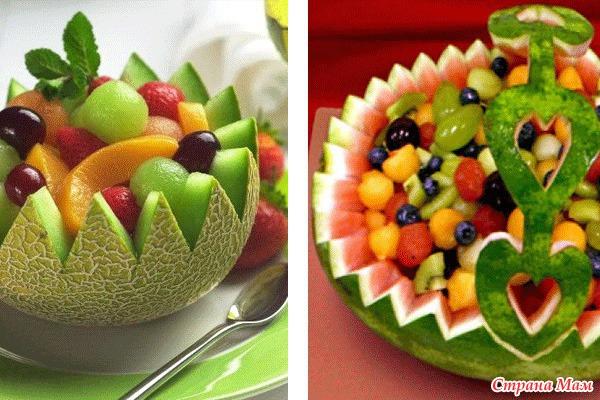 Красивые фруктовые салаты рецепты с фото