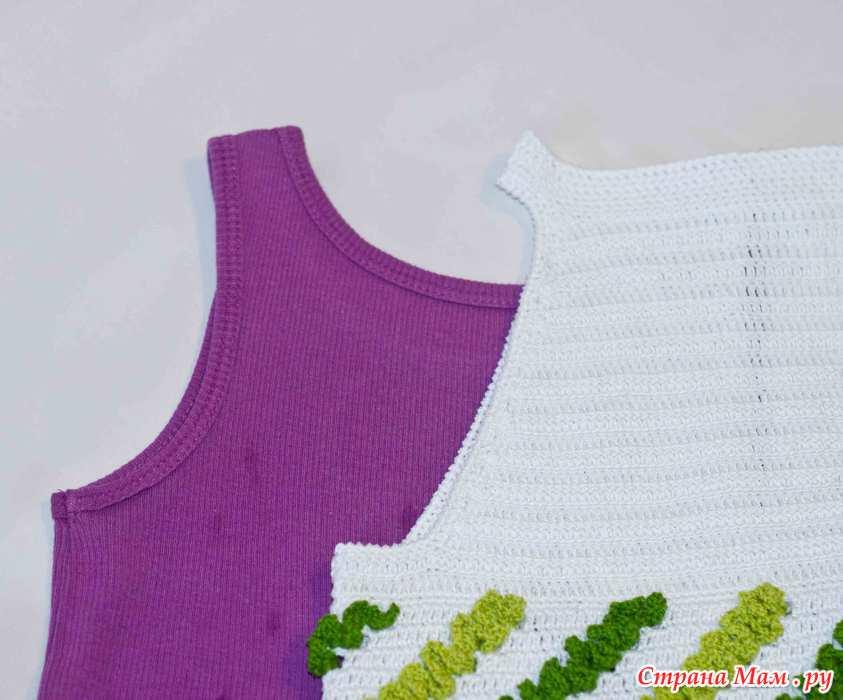 Схема вязания крючком детского платья сверху вниз