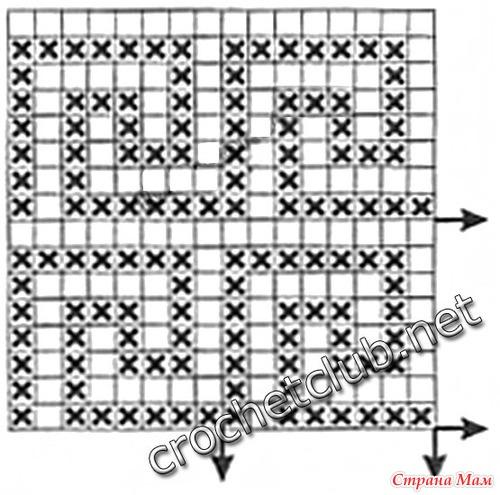 Узоры филейного вязания