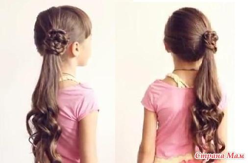 школьные прически для длинных волос фото