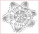"""Схема вязания крючком топа. с объёмными цветами  """"Букет бадьяна """"."""