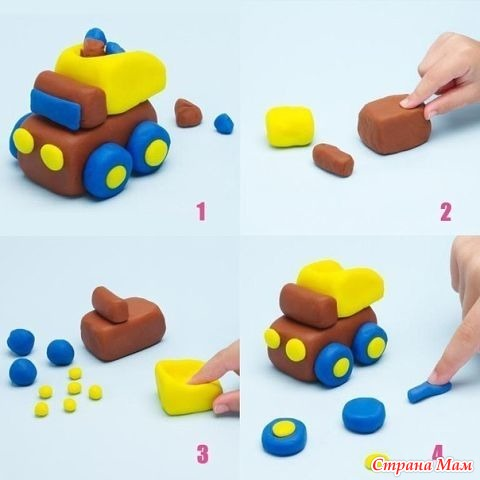 Поделки из пластилина для детей 2-3 лет поэтапно
