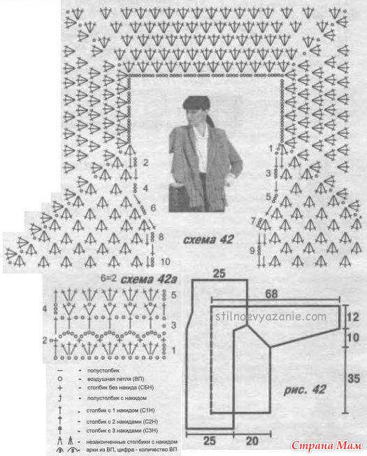 Кофта крючком реглан фото и схема