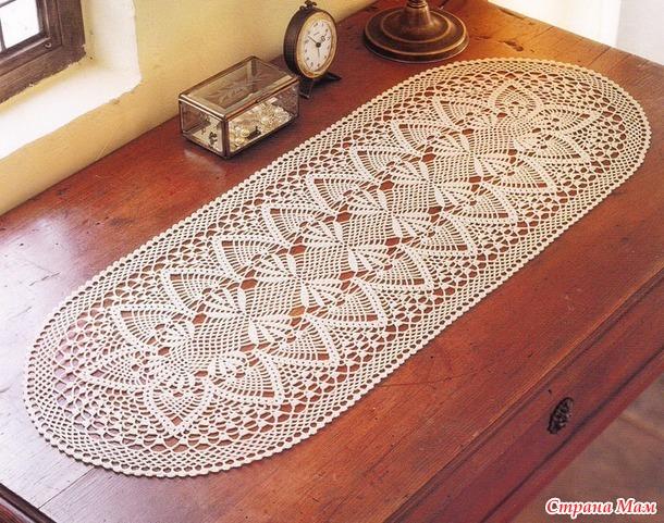 вязание крючком салфетки стол схемы