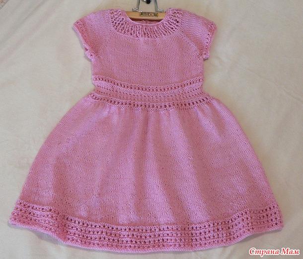 Платье для внучки в садик