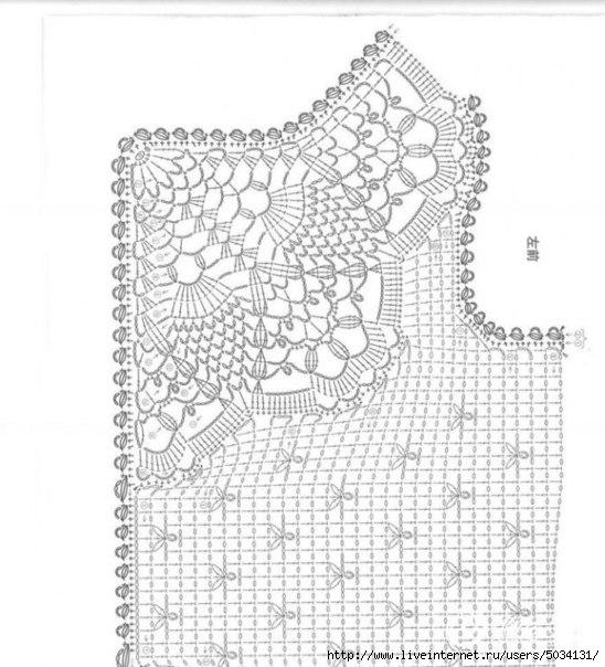 Вязание крючком ажурный жакет для девочки