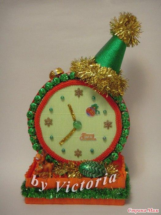 Поделка часы на новый год своими руками из фломастеров