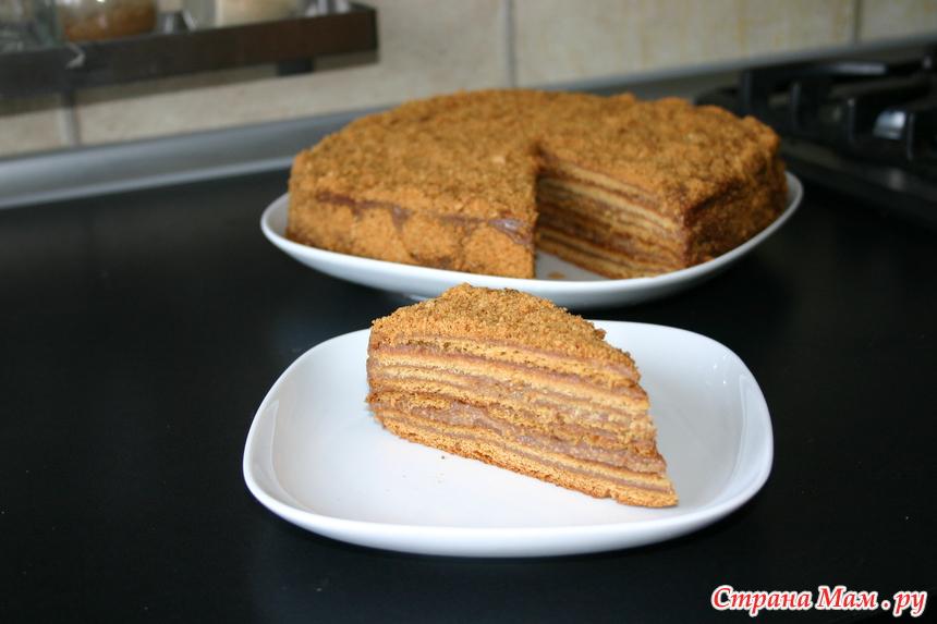 Торт Рыжик с заварным кремом  рецепт с фото