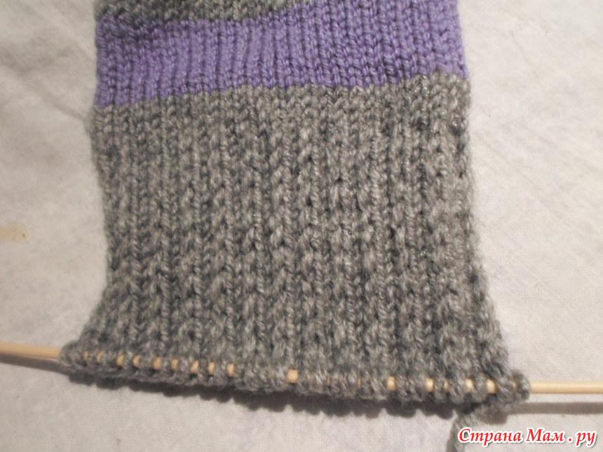 Вязание носок с двойной пяткой
