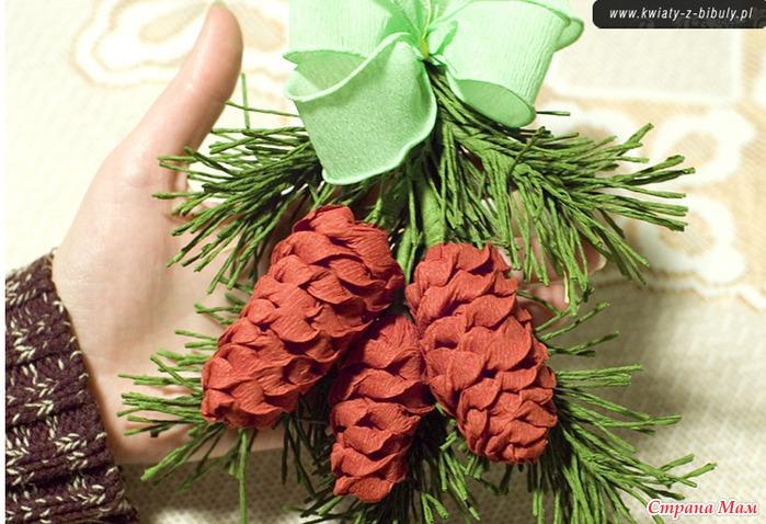 Как сделать ветки елки из бумаги своими