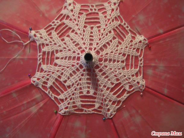 Небольшой МК по вязанию ажурных зонтиков крючком + Моя коллекция зонтиков