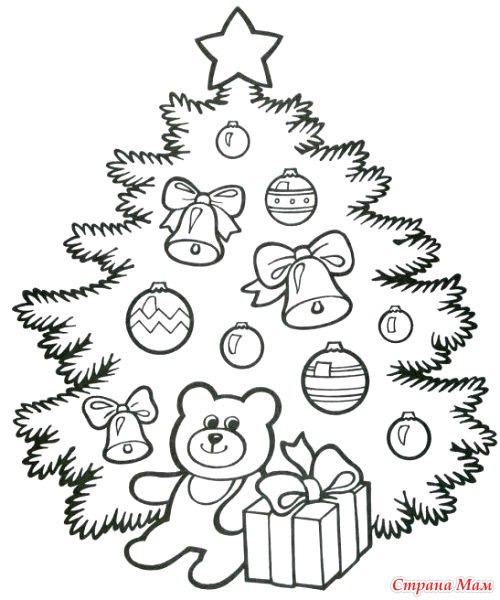 Новогодние трафареты. Ёлочки, овечки, деды Морозы и другие ...
