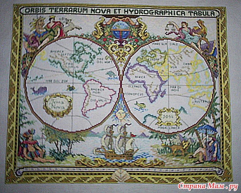 *Old World Map Старая карта