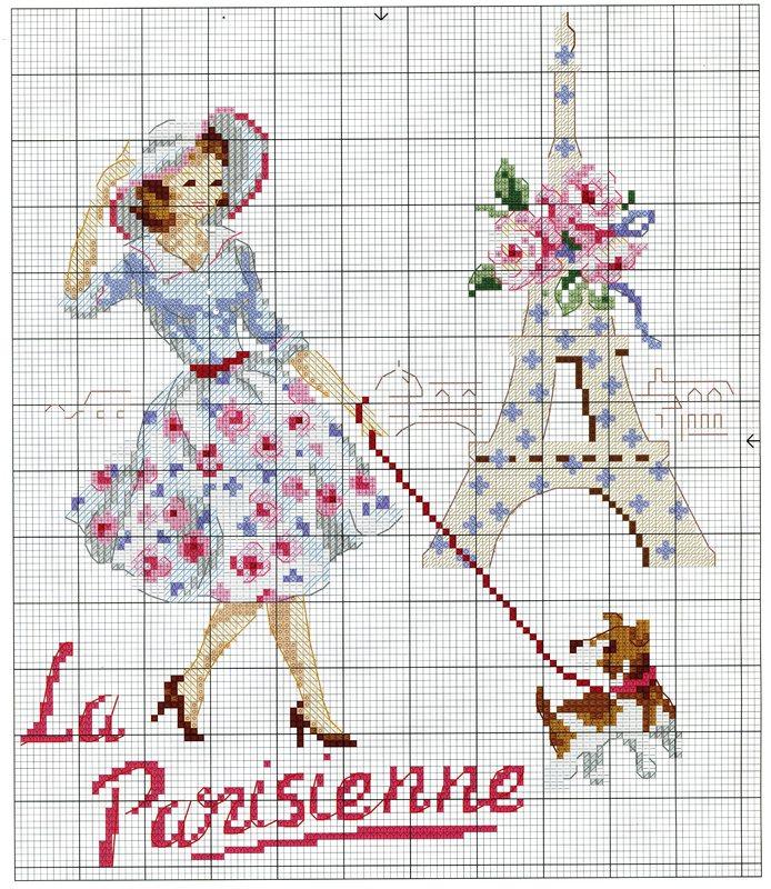 Парижанка схема вышивки