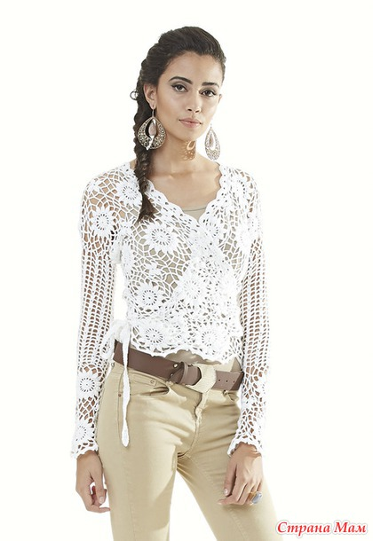 *Ажурная блузка CACHEQUER.