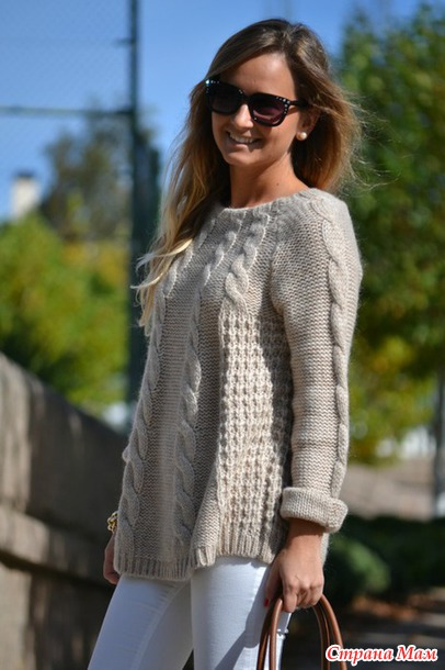 Онлайн пуловер из ангоры. Дополнила 30.11.14