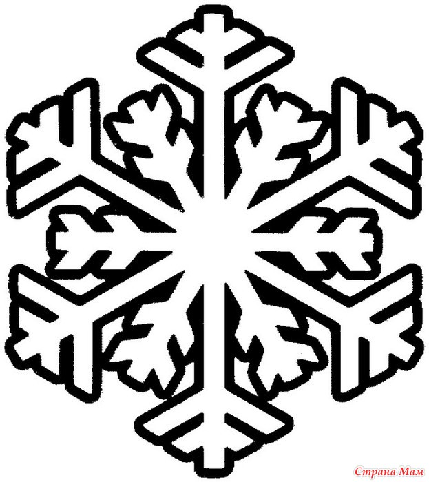 Раскраски снежинки большие