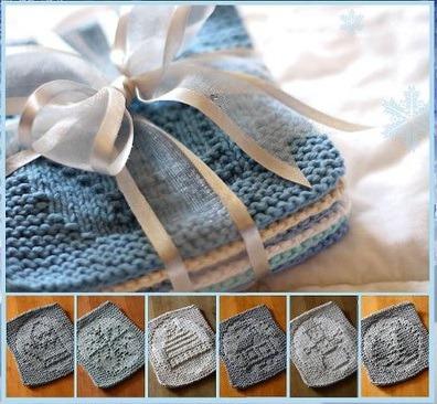Новогодние схемы для теневого вязания. Много фото.