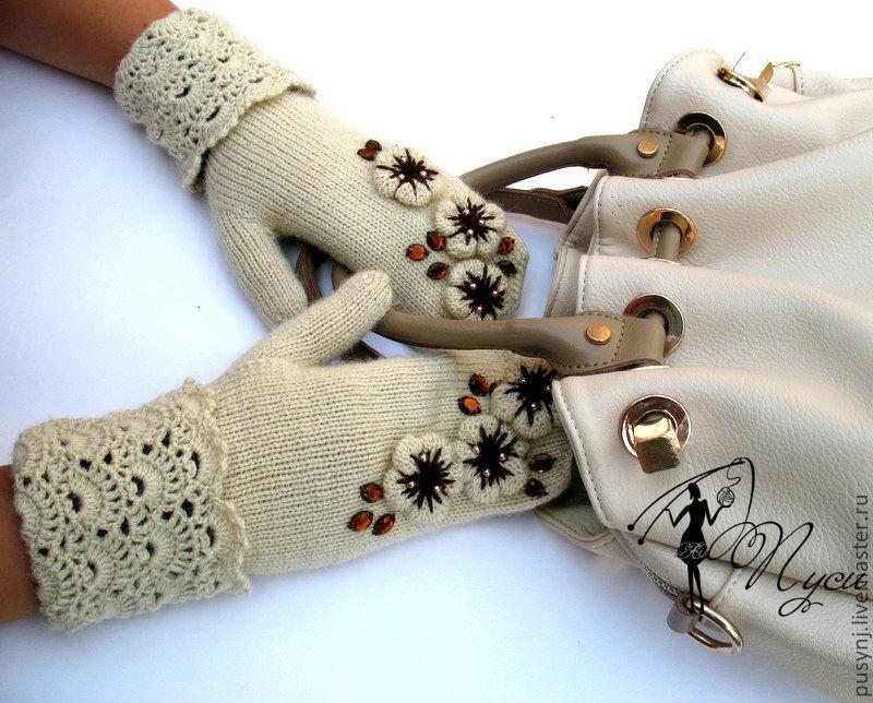 Оригинальные варежки своими руками