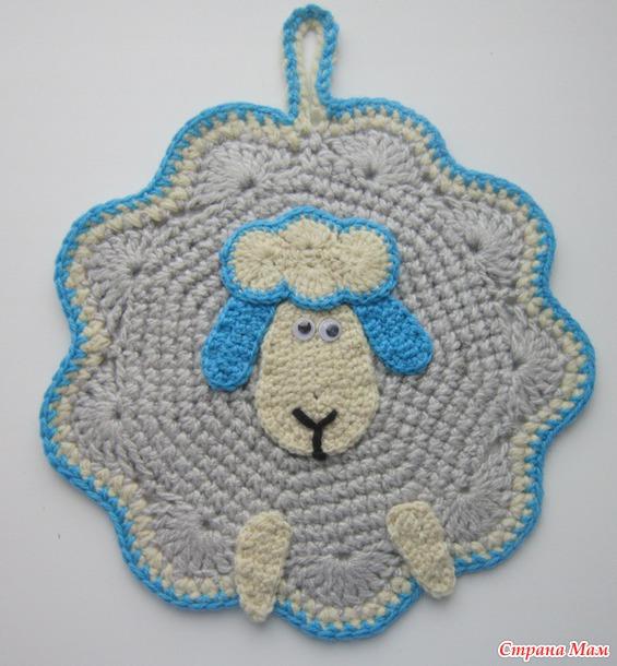Новогодние прихватки овечки и елочки