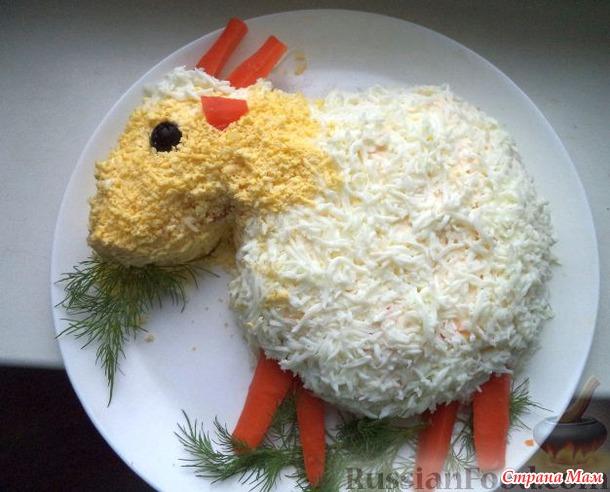 салат в год козы с фото
