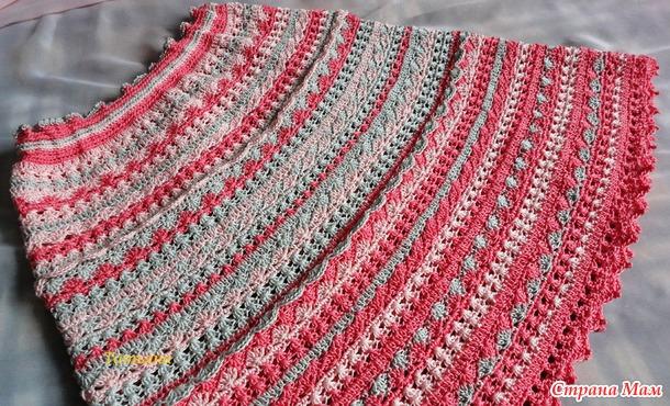 вязание низ юбки