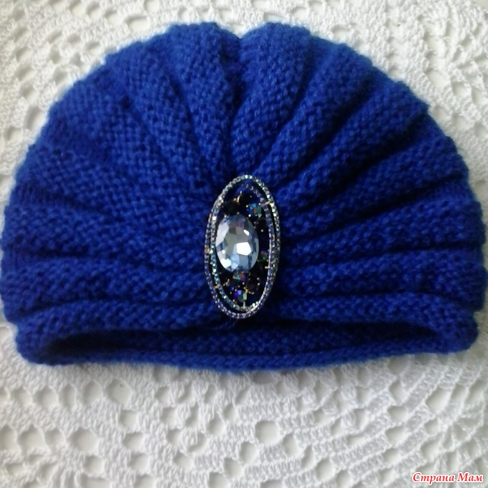 Вязание головки шапки