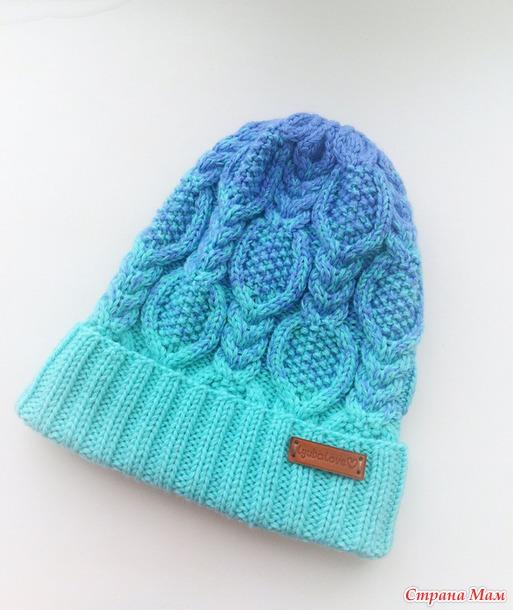 410Вязание градиентом шапку