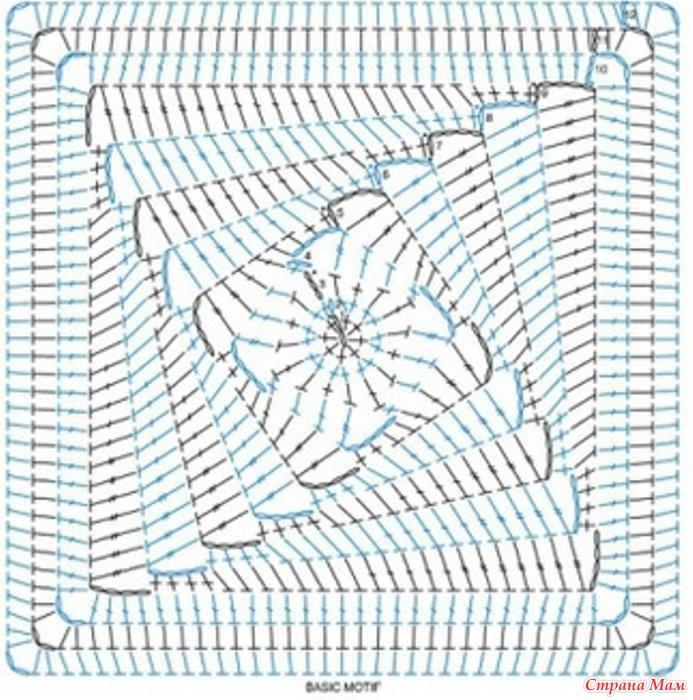 Как вязать из квадратных мотивов