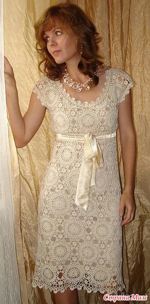 Платье мотивами от @ленка@ Давайте свяжем к Новому Году!