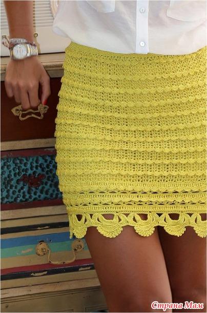 Хочу связать юбку.