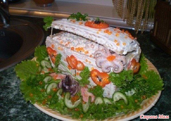 необычные салаты фоторецепты