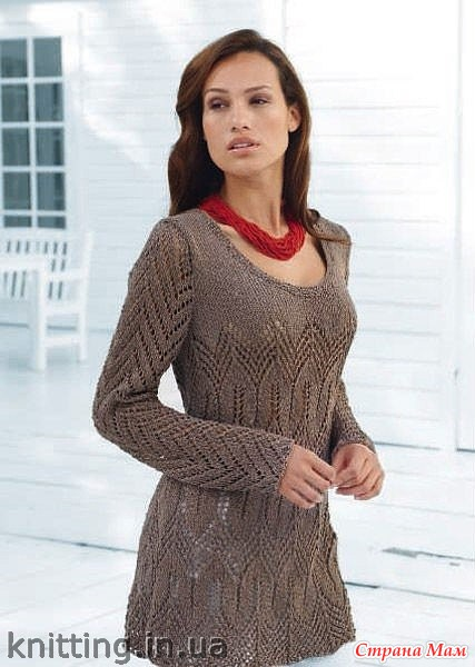 вязание спицами платья туники схемы бесплатно