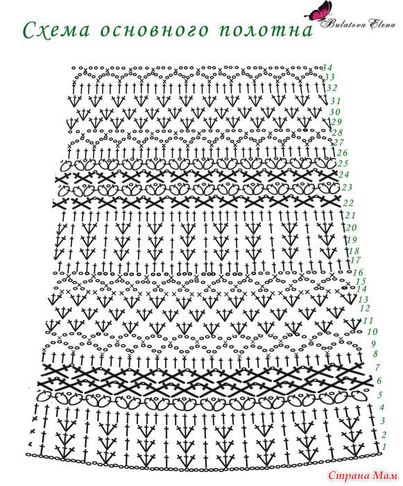 Страна мам вязание крючком схемы платья