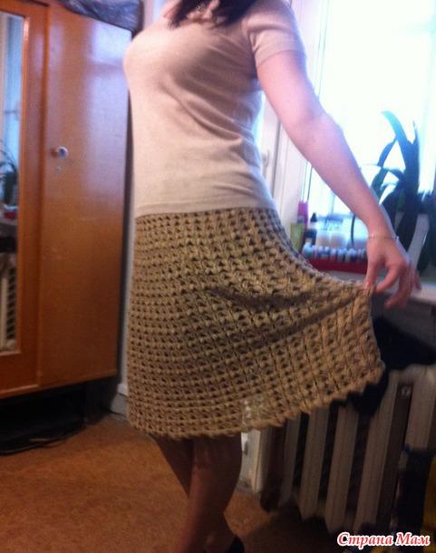 Довязала юбку