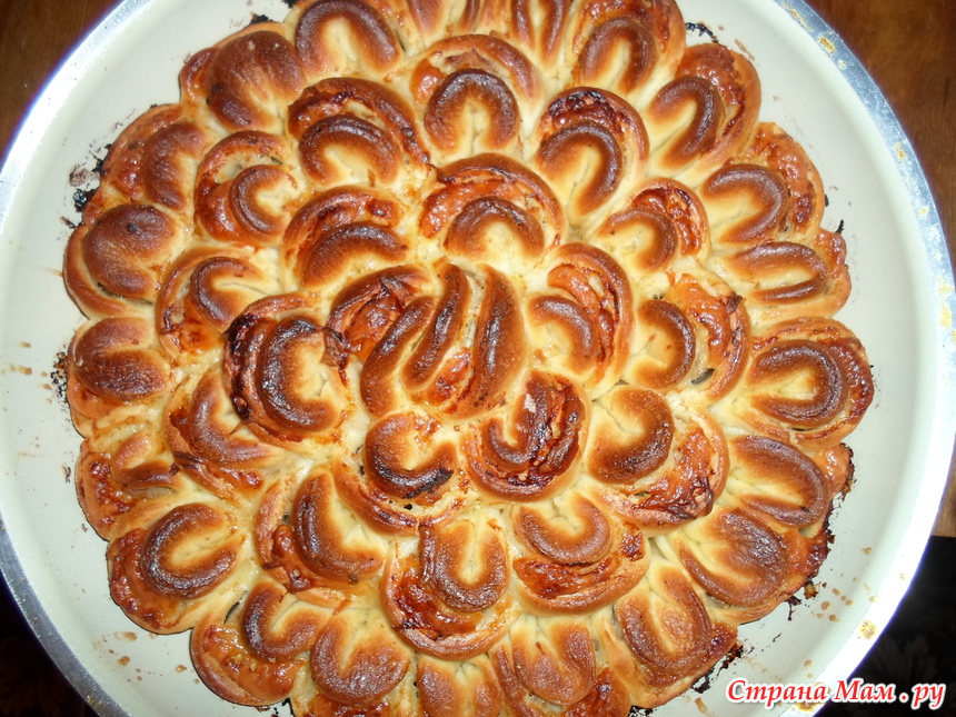 Мясной пирог с фаршем рецепт хризантема