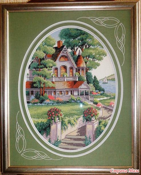 Вышивка дома от dimensions 681