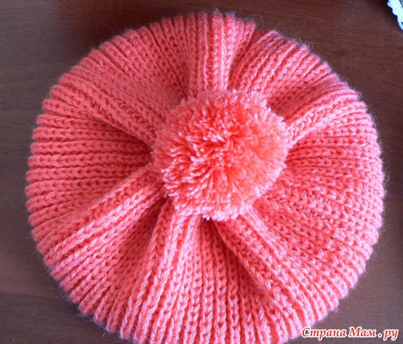 Вязание береток для девочек спицами 184
