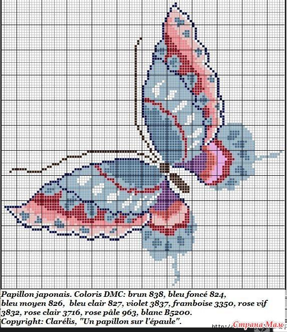 Схемы для вышивания бабочка