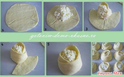 ватрушки розочки с творогом рецепт с фото