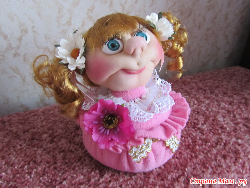 Кукла шкатулка из колготок пошагово своими руками