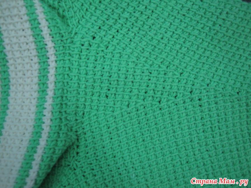 Тунисское вязание крючок жакет 960