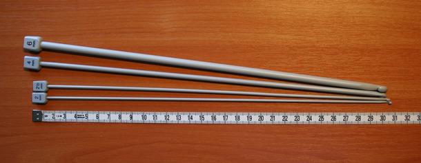 Вязание длинными односторонними крючками в тунисской технике