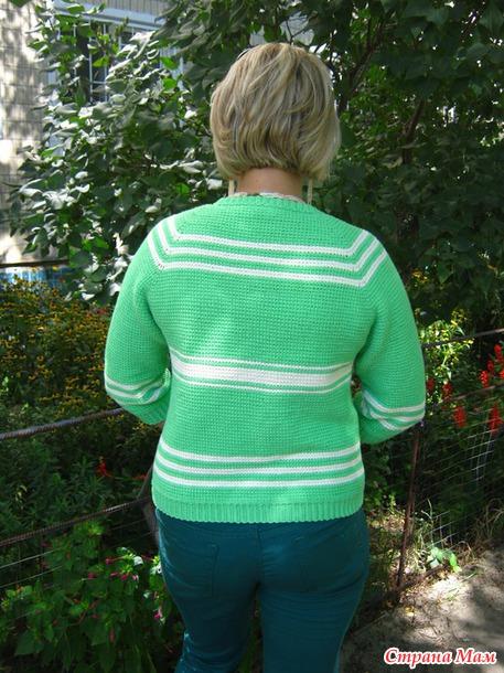 *Кофта-жакет для прохладных летних вечеров (тунисское вязание). Авторская работа