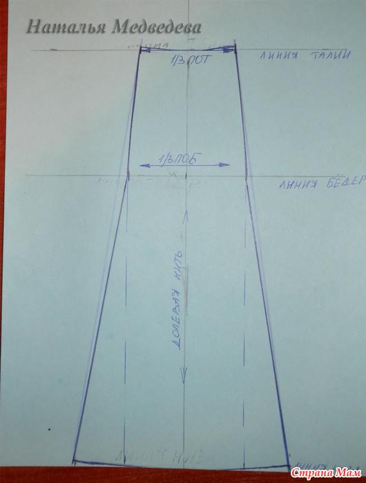 Как построить клин к юбке