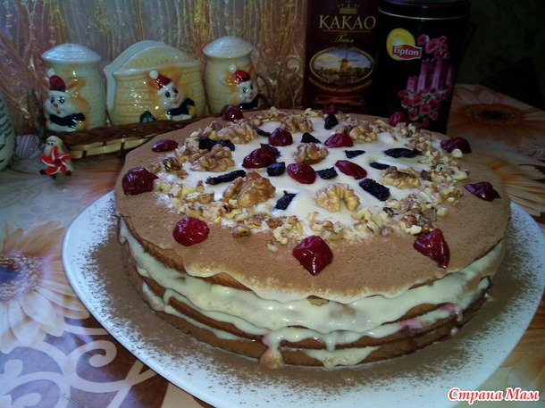 Рецепт торта с разными кремами