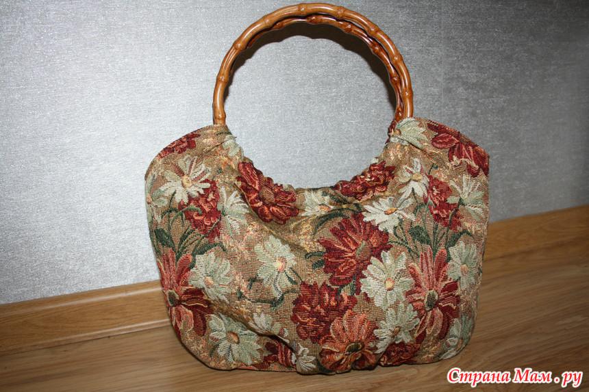 Гобеленовая сумка сшить своими руками 16
