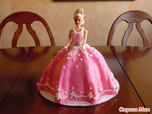 Торт для детей с куклой фото